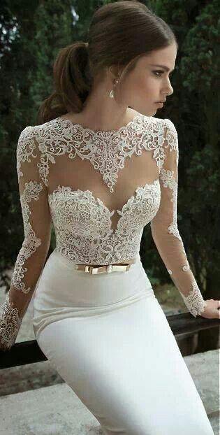 Pretty wedding dress.