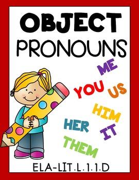 PRONOUNS! OBJECT PRONOUNS - Grade 1 Common Core Aligned 27 ...