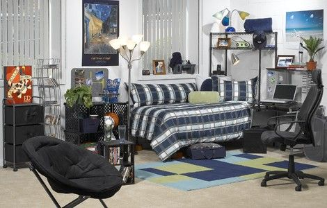 back to school dormitory room color inspiration - College Room Decor