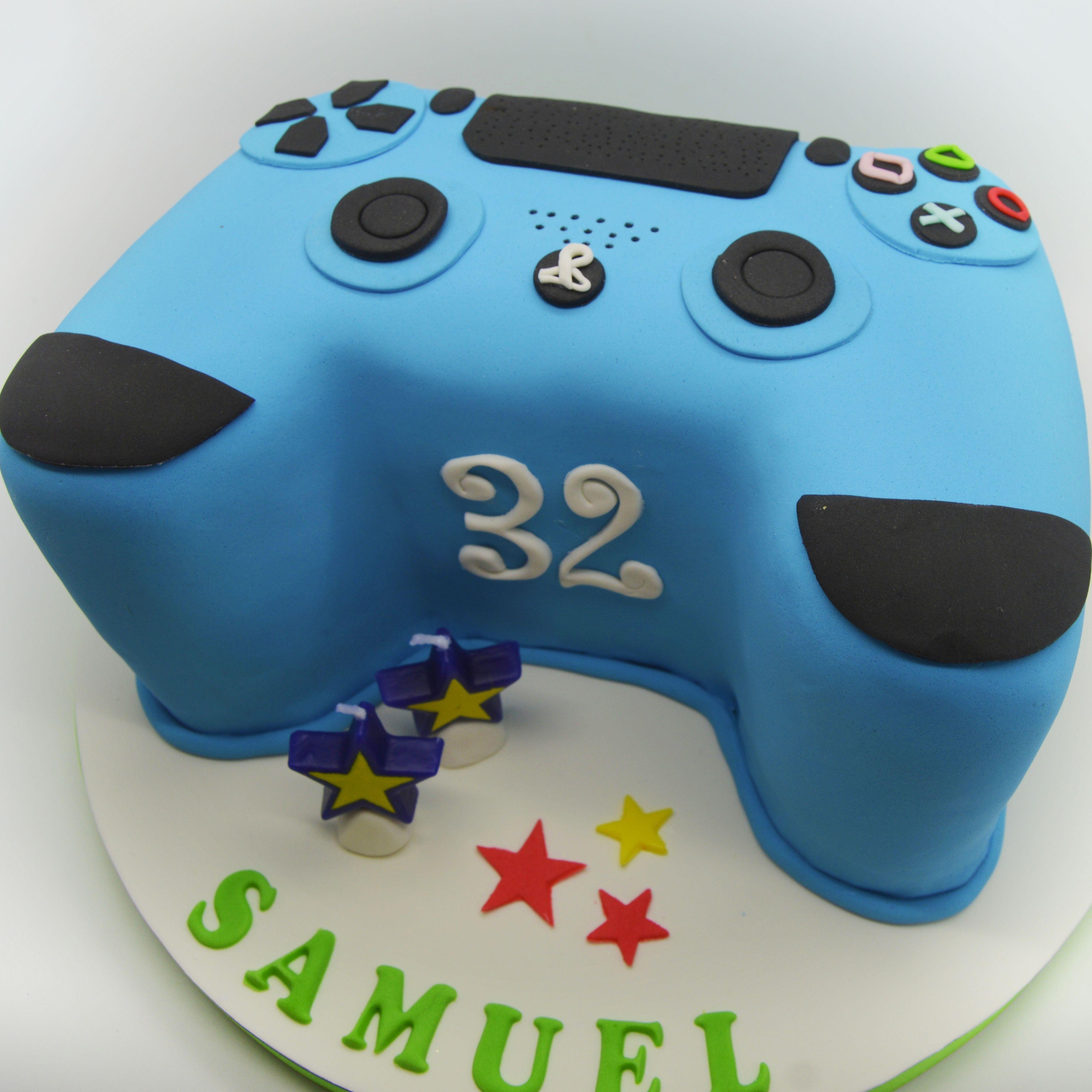PS4 Remote Control Cake Birthdaycake Sugarpaste Cakedesign