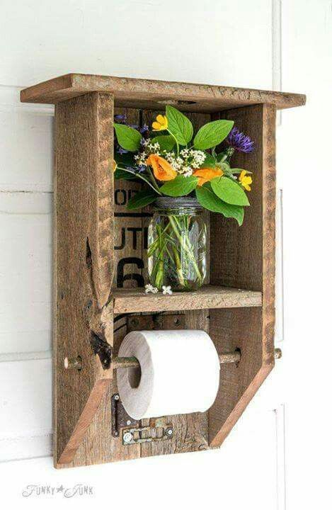 25 Amazing DIY Rustic Home Decor Ideas And Designs | Toilet Paper Holders, Toilet  Paper And Toilet