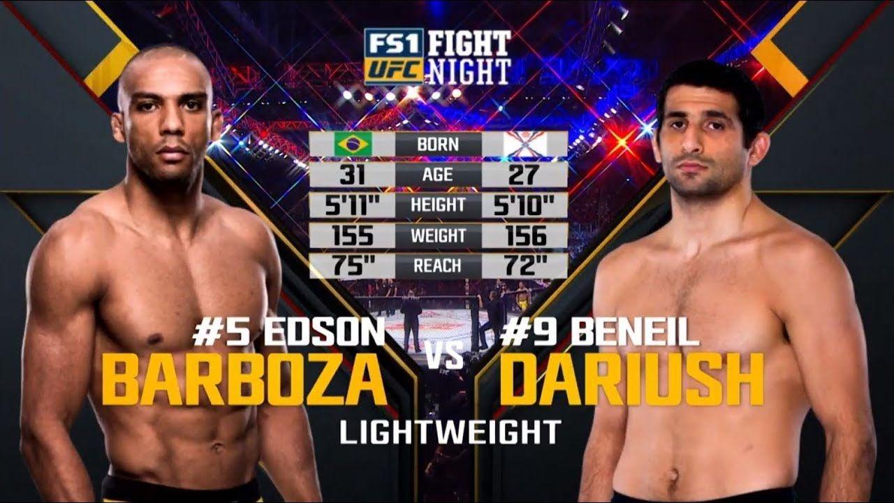 UFC Philadelphia Free Fight Edson Barboza vs Beneil