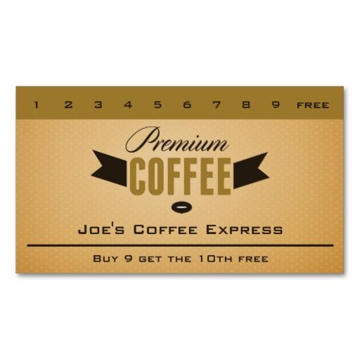 Espresso Bar Coffee Shop Punch Card Double Sided Standard Business Cards Pack Of 100 Punch Cards Customer Loyalty Cards Loyalty Card