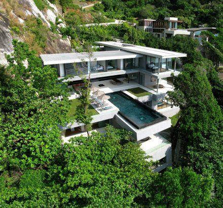 Villa Amanzi In Thailand Seems Inspired By Frank Lloyd Wright