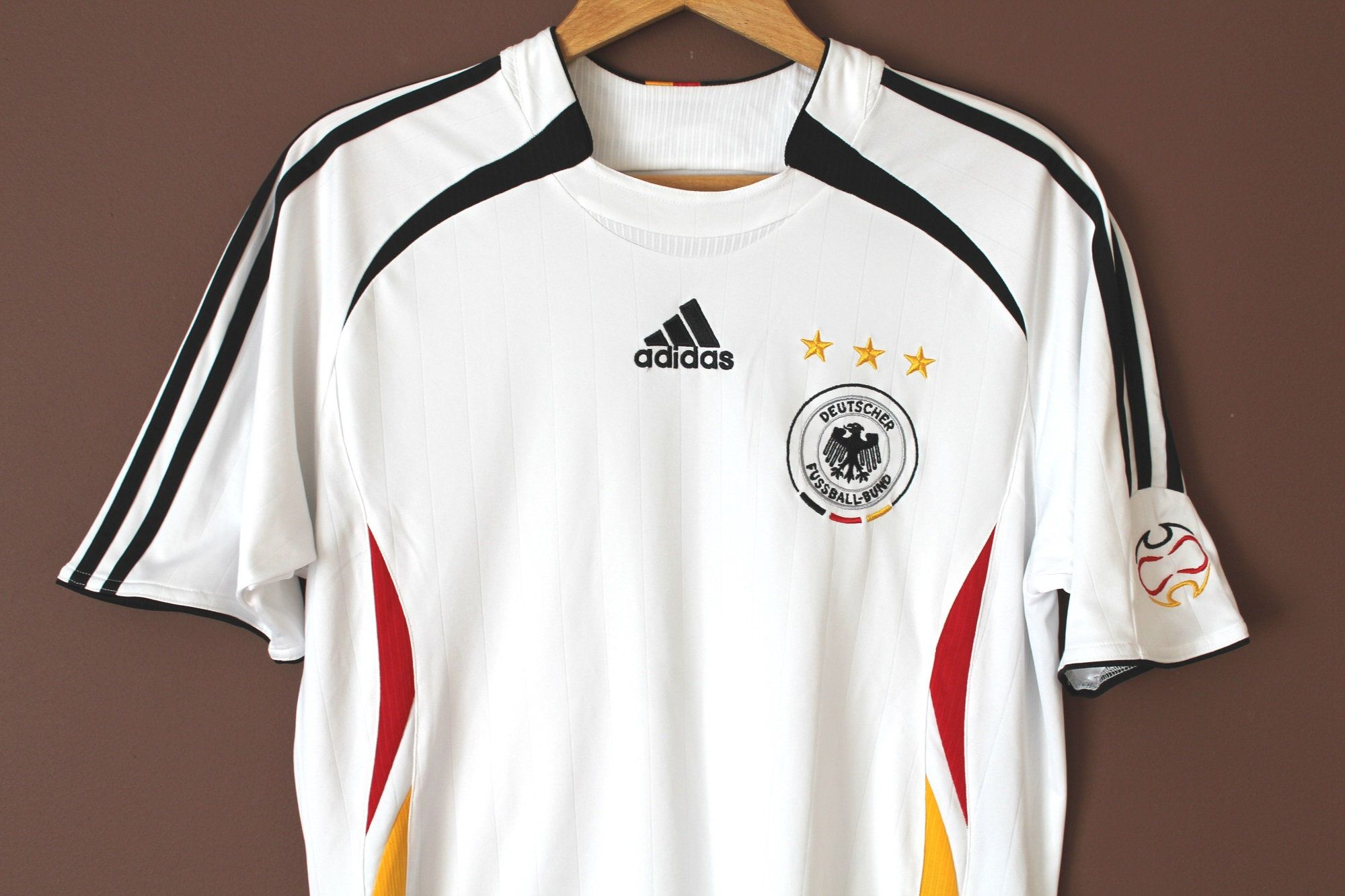 Vintage Adidas German Football Shirt White Deutscher Etsy Vintage Adidas Shirts Football Shirts [ 1333 x 2000 Pixel ]