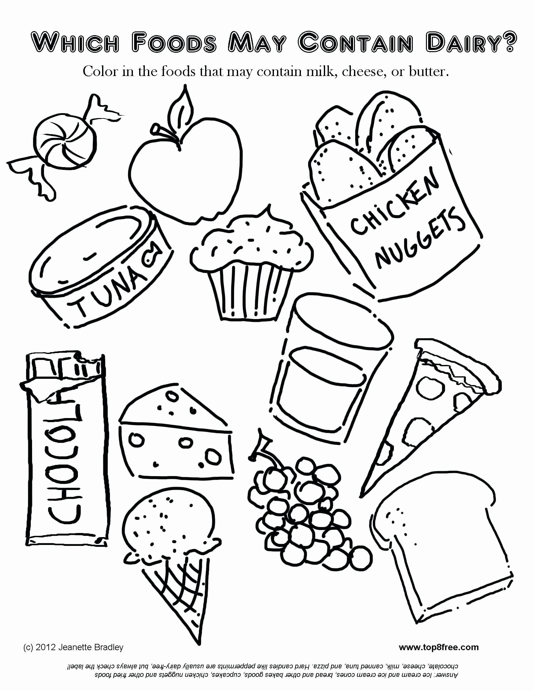 Chicken Nugget Coloring Pages Luxury Food Pyramid Coloring Sheet