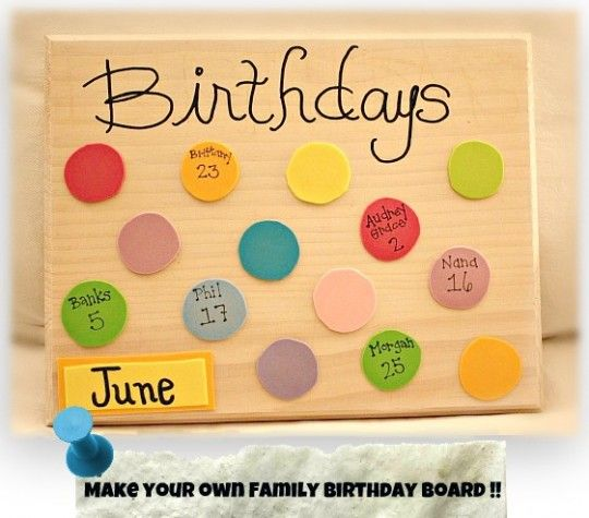 Keep Track Of Birthdays With A DIY Family Birthday Board
