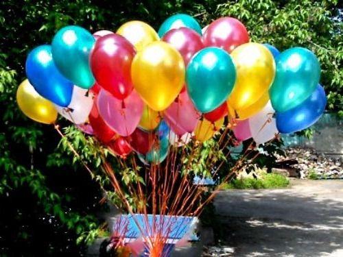 Перламутровые гелиевые шарики