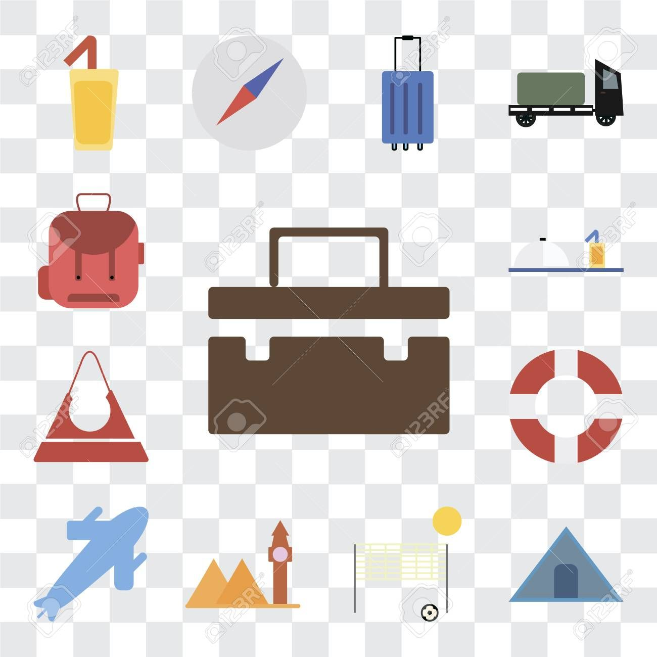 Set Of 13 Transparent Editable Icons Such As Suitcase Tent Beach Volleyball Landmark Plane Lifebuoy Purse In 2020 Business Cards Photography Lifebuoy Kids Rugs