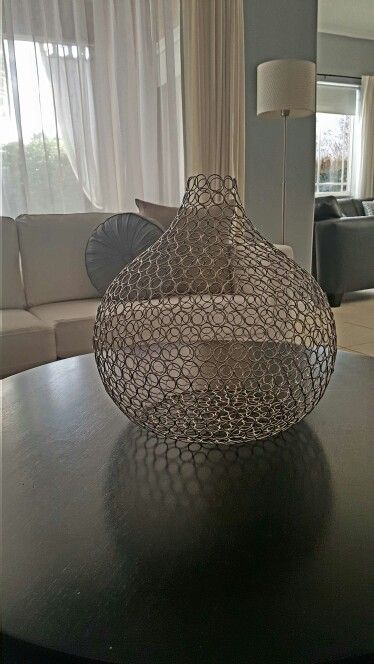 Home Decor Ideas - Mesh vase makes for an easy modern look in any room...