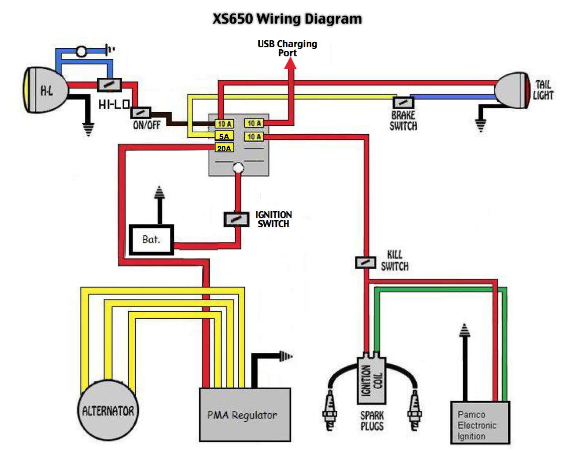 Project Xs650 Shaun Mayfield Kaizen Total Improvement Best Of Xs650 Wiring Diagram Xs650 Diagram Motorcycle Wiring