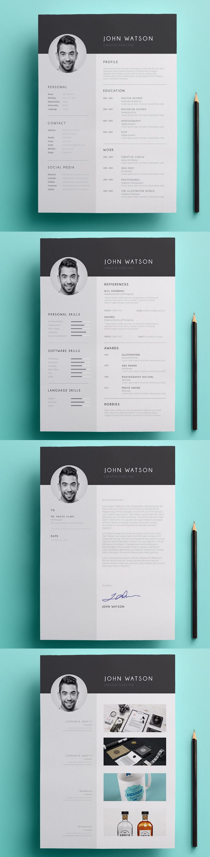 Minimalist Resume Template AI, PSD, DOCX | Resume tips | Pinterest ...