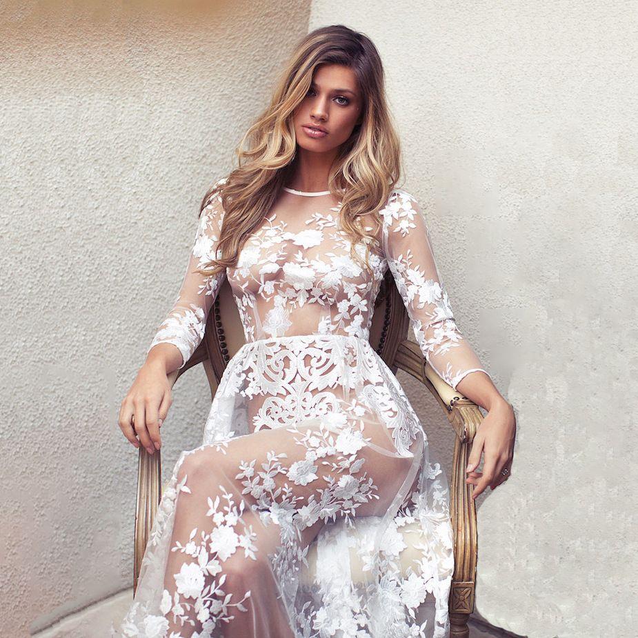 Кружевные секси платья