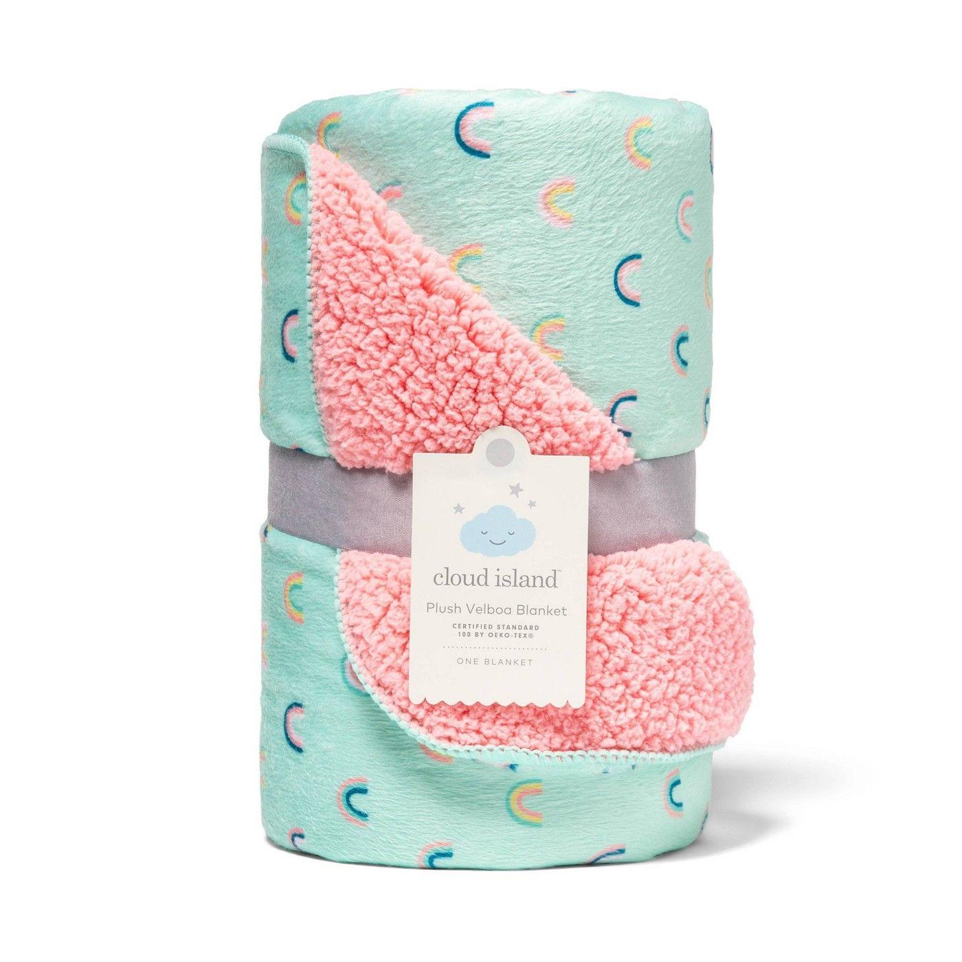 Plush Velboa Baby Blanket Rainbows Cloud Island Affiliate Baby Ad Velboa Plush Baby Blanket Rainbow Plush Baby Sensitive Skin