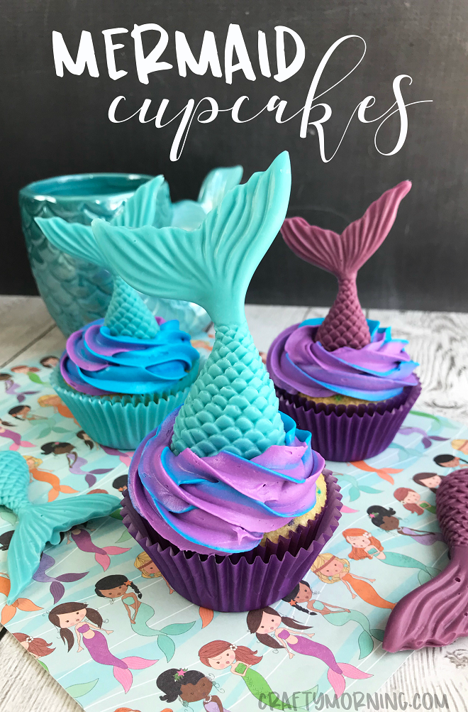 How to Make Mermaid Cupcakes cute for kids birthday parties Use