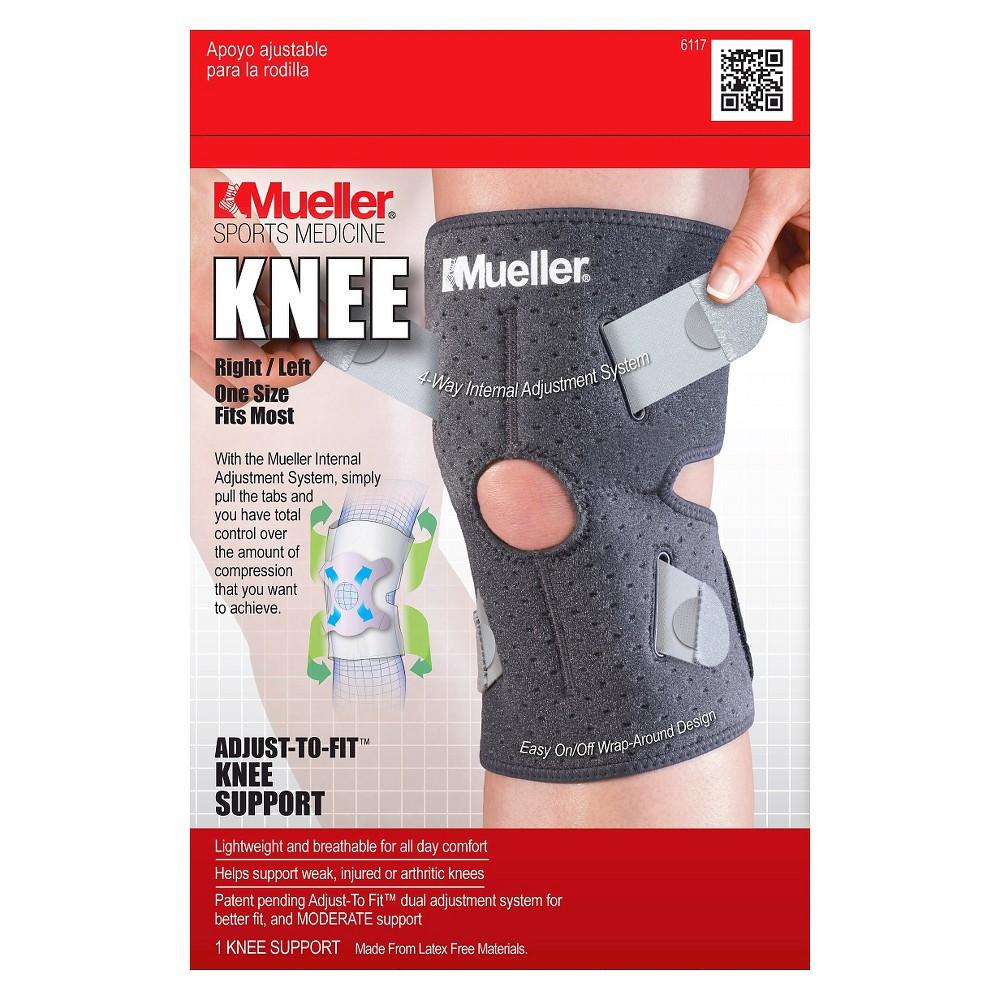 Mueller AdjustToFit Knee Support Black Fitness, Health