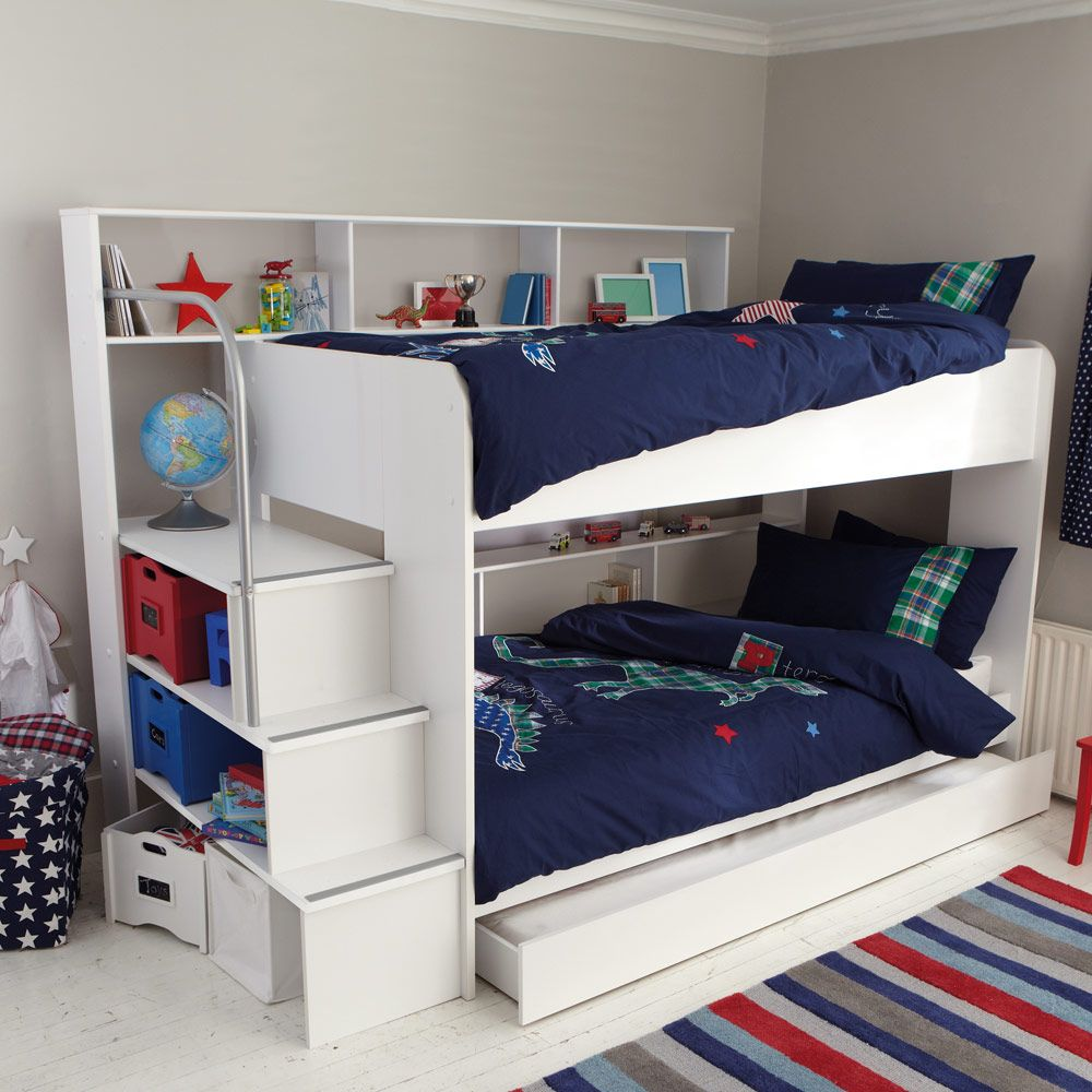 White bunk beds for kids - This Kid S White Bunk Bed Is A Little Stunner With Heaps Of Storage And A