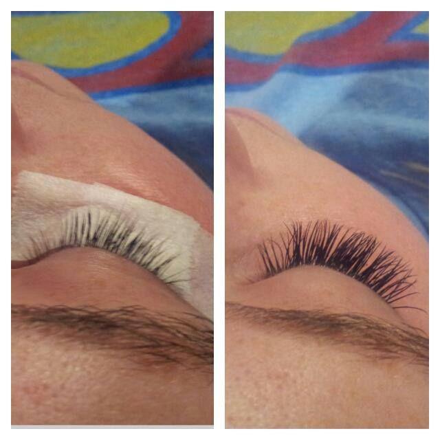 Eyelash Extensions before and after #studio210 #askforamanda