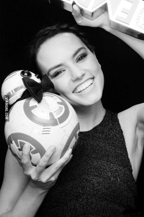Mini BB-8 and Daisy Ridley!