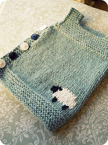 Knitted Baby Vest Pattern : TraceyNicoles counting sheep Baby vest, Vest pattern and Ravelry