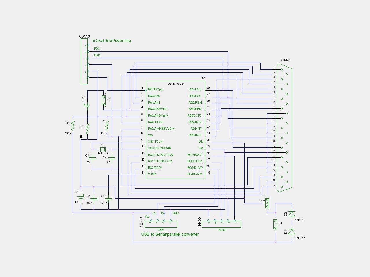 Parallel port to usb converter circuit diagram unique wiring also rh pinterest