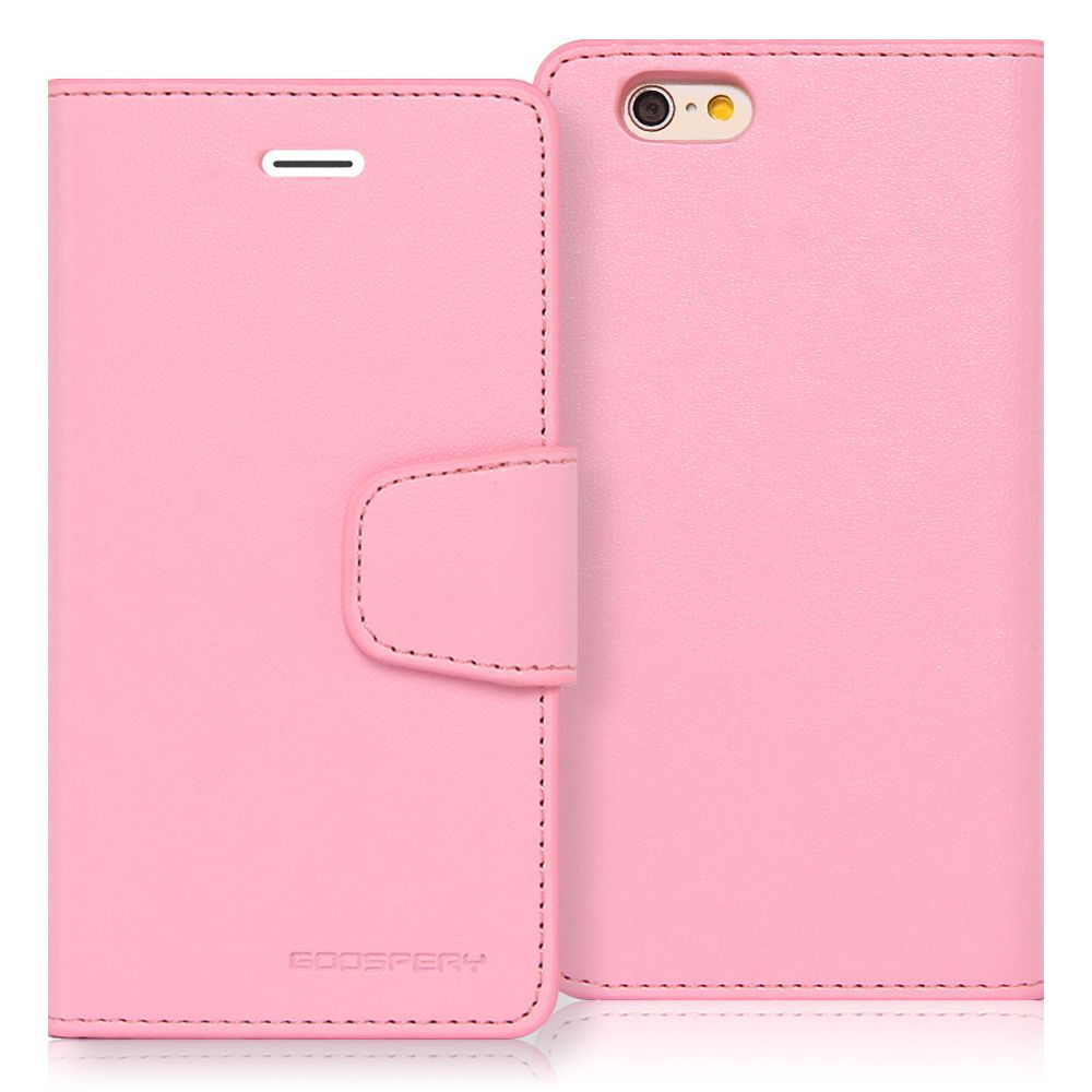 For Iphone 6 6s Genuine Mercury Goospery Pink Leather Flip Case Samsung Galaxy S6 Canvas Diary Red Wallet Cover