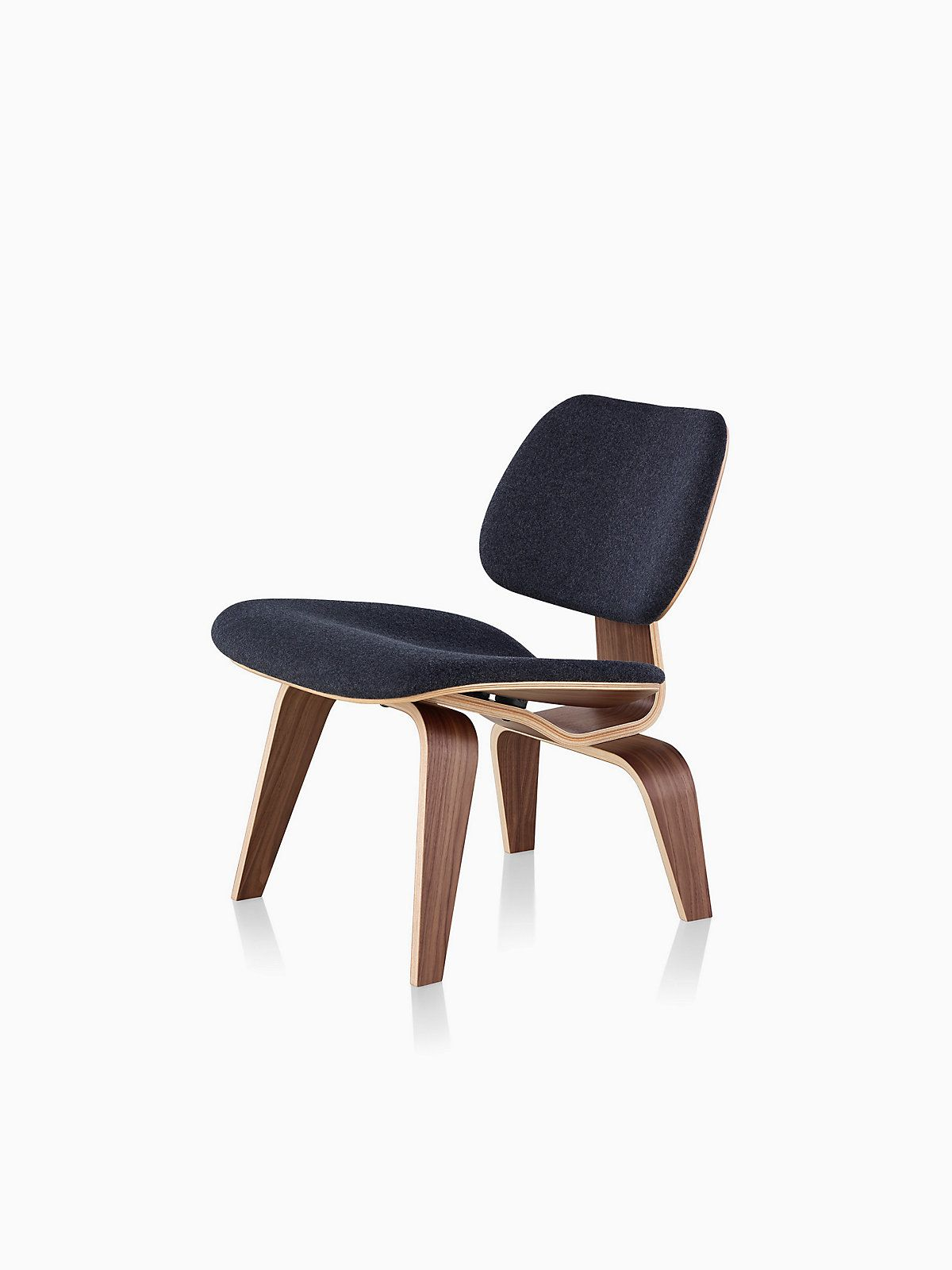 Eames upholstered molded plywood lounge chair lcw