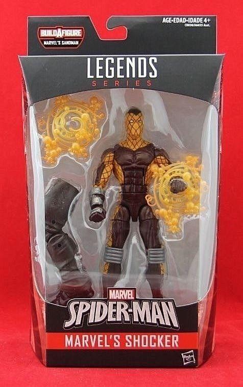 """Marvel's Shocker 6"""" Action Figure Marvel Legends BAF Sandman Spider-Man Series  #Hasbro"""