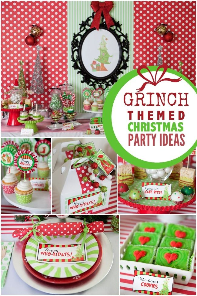 grinch themed christmas party ideas for kids - The Grinch Themed Christmas Decorations