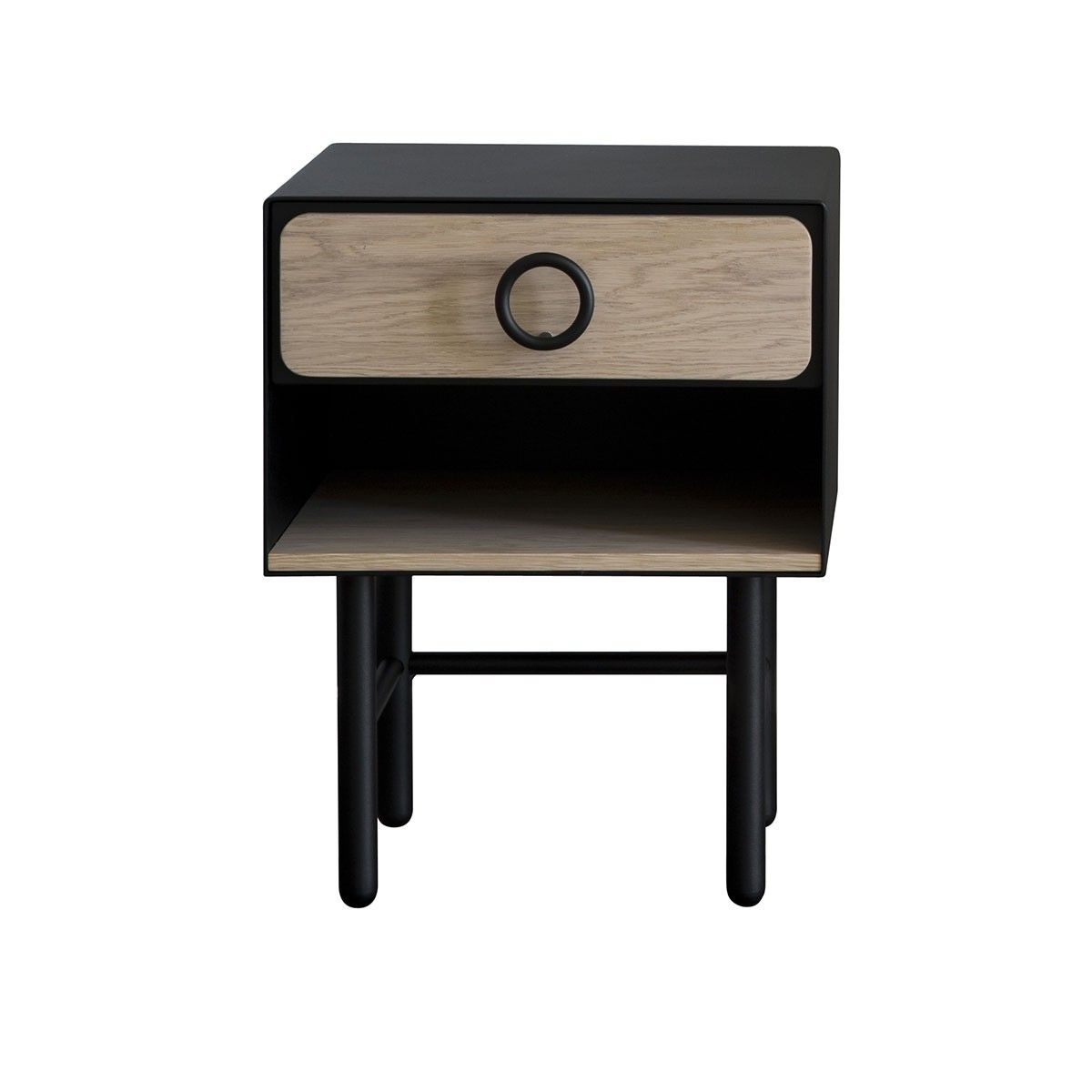 table de chevet petite - noir - les iresistub   mobilier