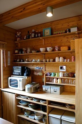 kitchen wooden shelf  Organization Home  Pinterest  부엌, 집 및 오렌지