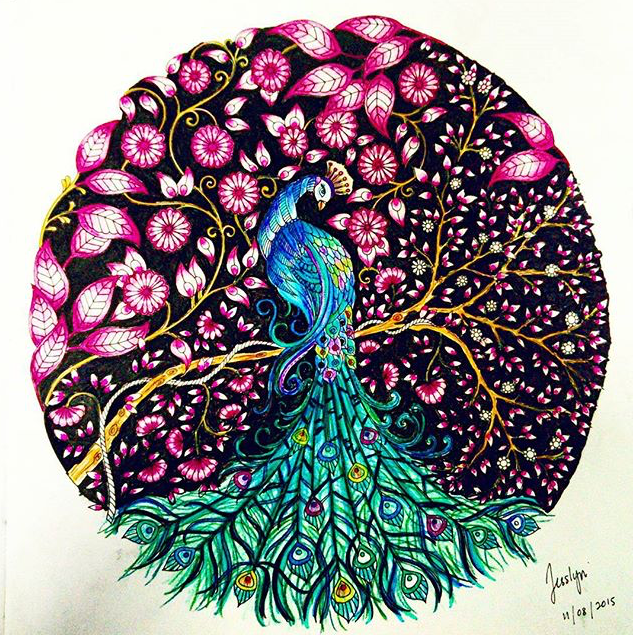 Johanna Basford Peacock Bird Peafowl