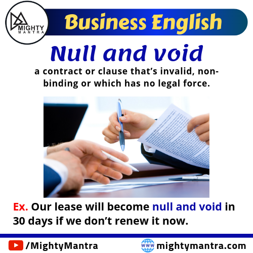 Business English. Meaning: A Contract Or