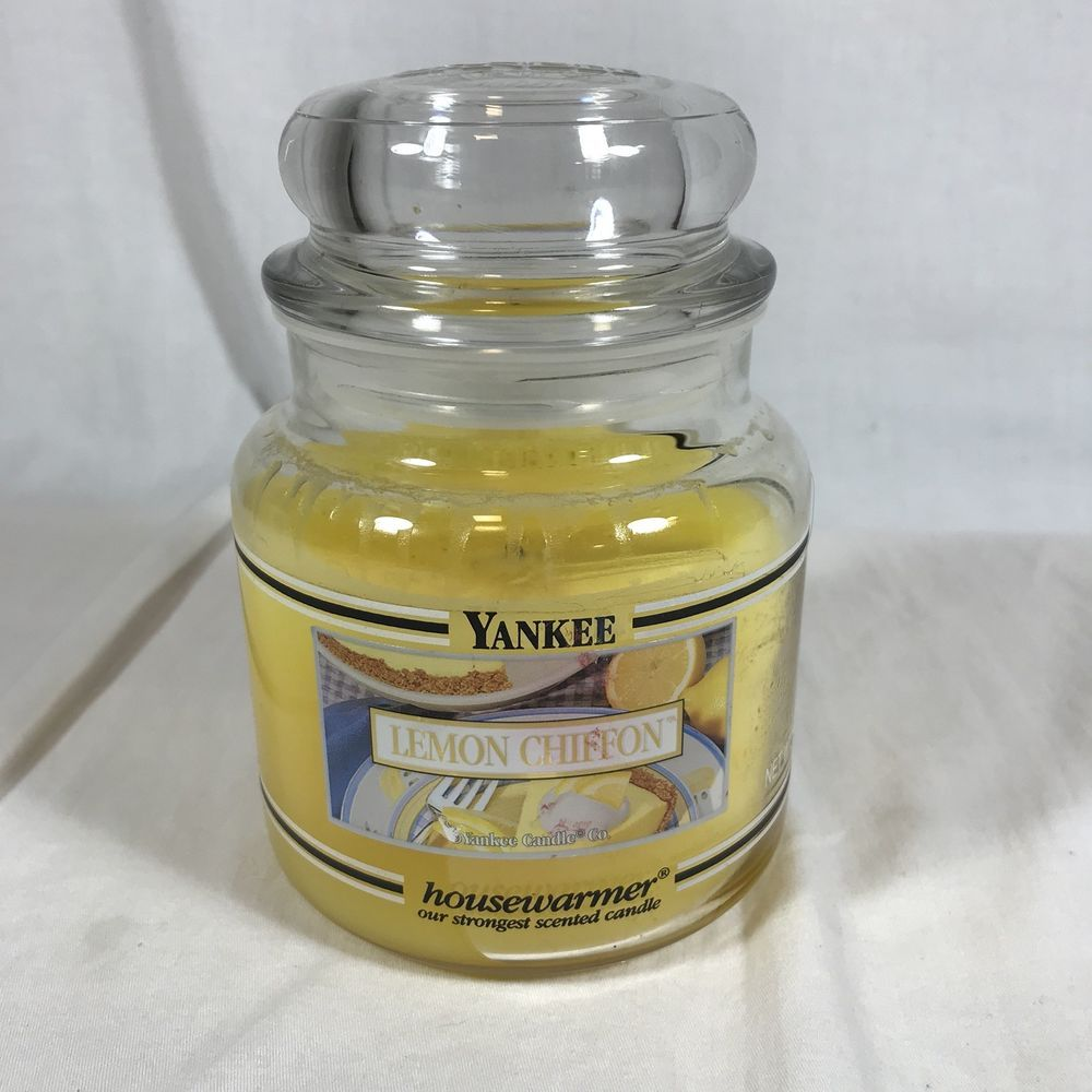 Details about yankee candle lemon chiffon oz jar retired black