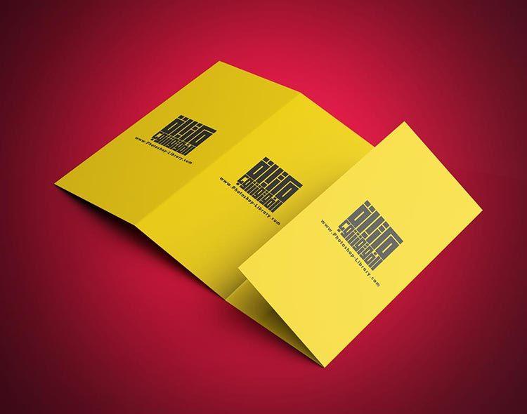 تحميل موك اب بروشور 4 طيات Psd مجانا Cards Against Humanity Brochures Mockups Brochure