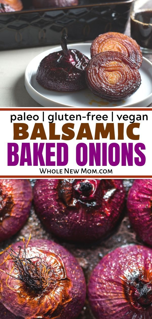 Balsamic Baked Red Onions - low carb & AIP images