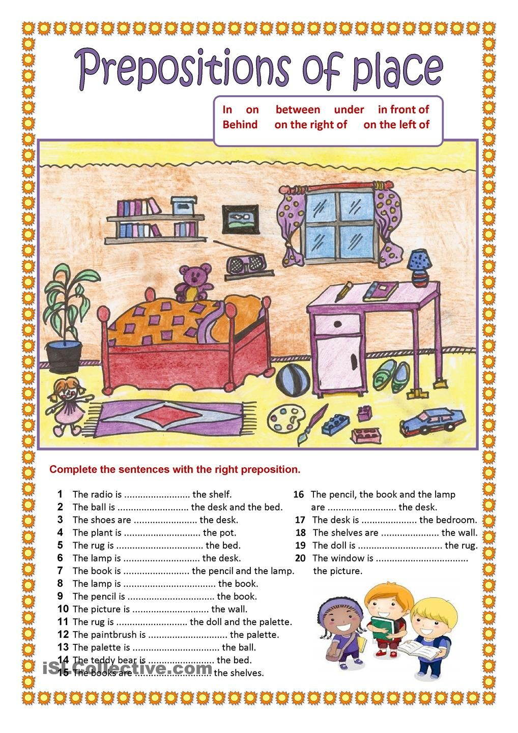 Worksheets Preposition Worksheets prepositions of place 2 358 free esl worksheets