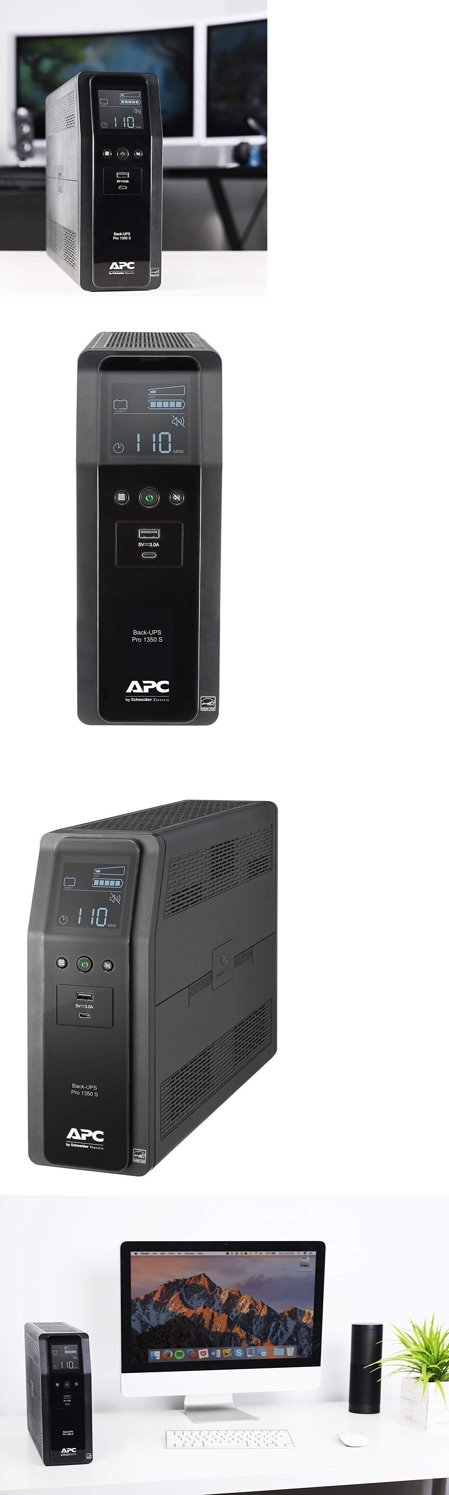 Uninterruptible Power Supplies 99265 Apc 1350va Back Ups Pro Sinewave Ups Battery Backup And Surge Protector Br1 Battery Backup Ups Batteries Surge Protector