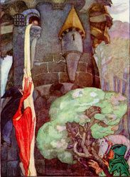 Rapunzel, Let Down Your Hair by Anne Anderson