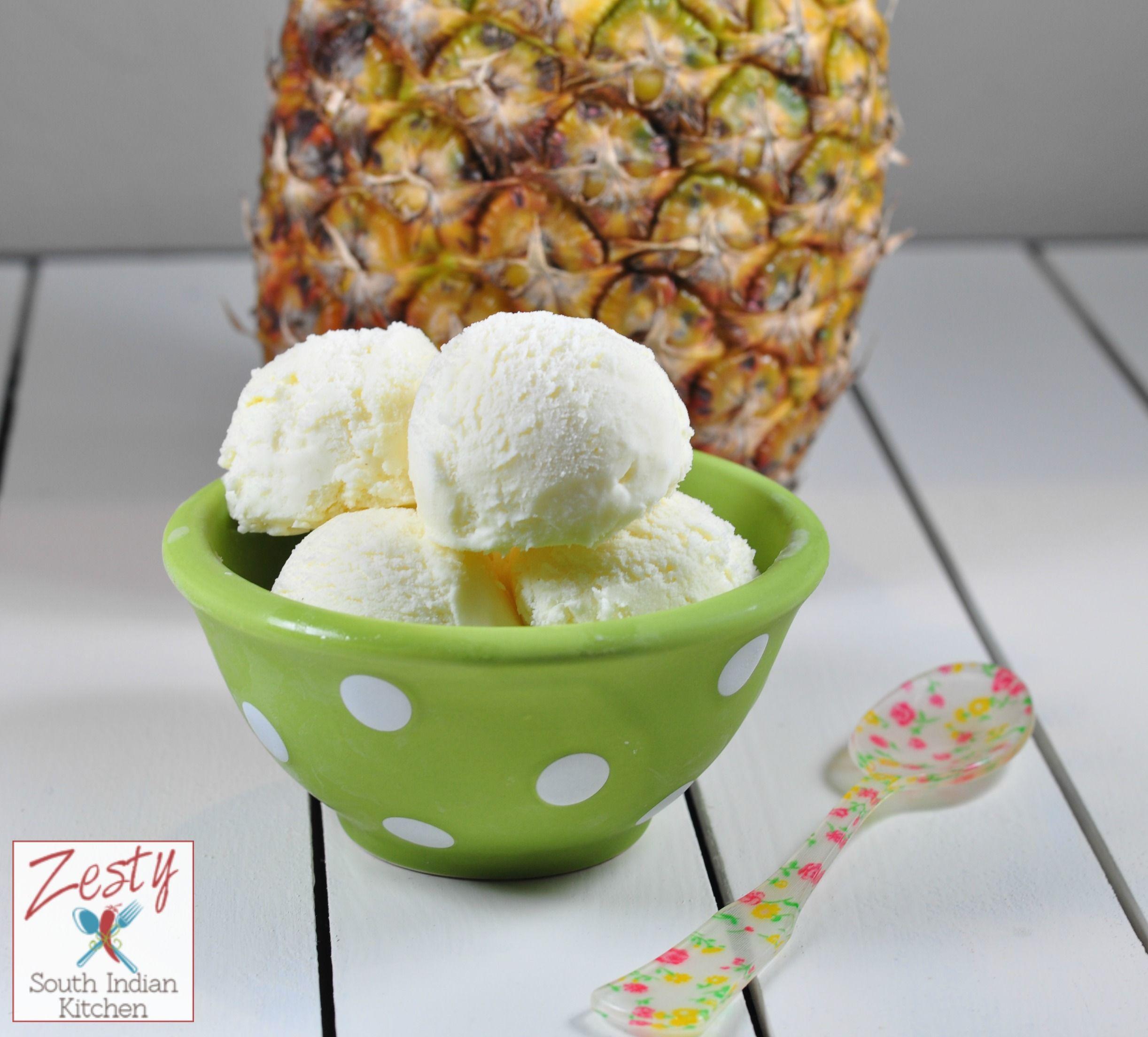 Homemade fresh Pineapple Ice cream | Recipe | Recipes