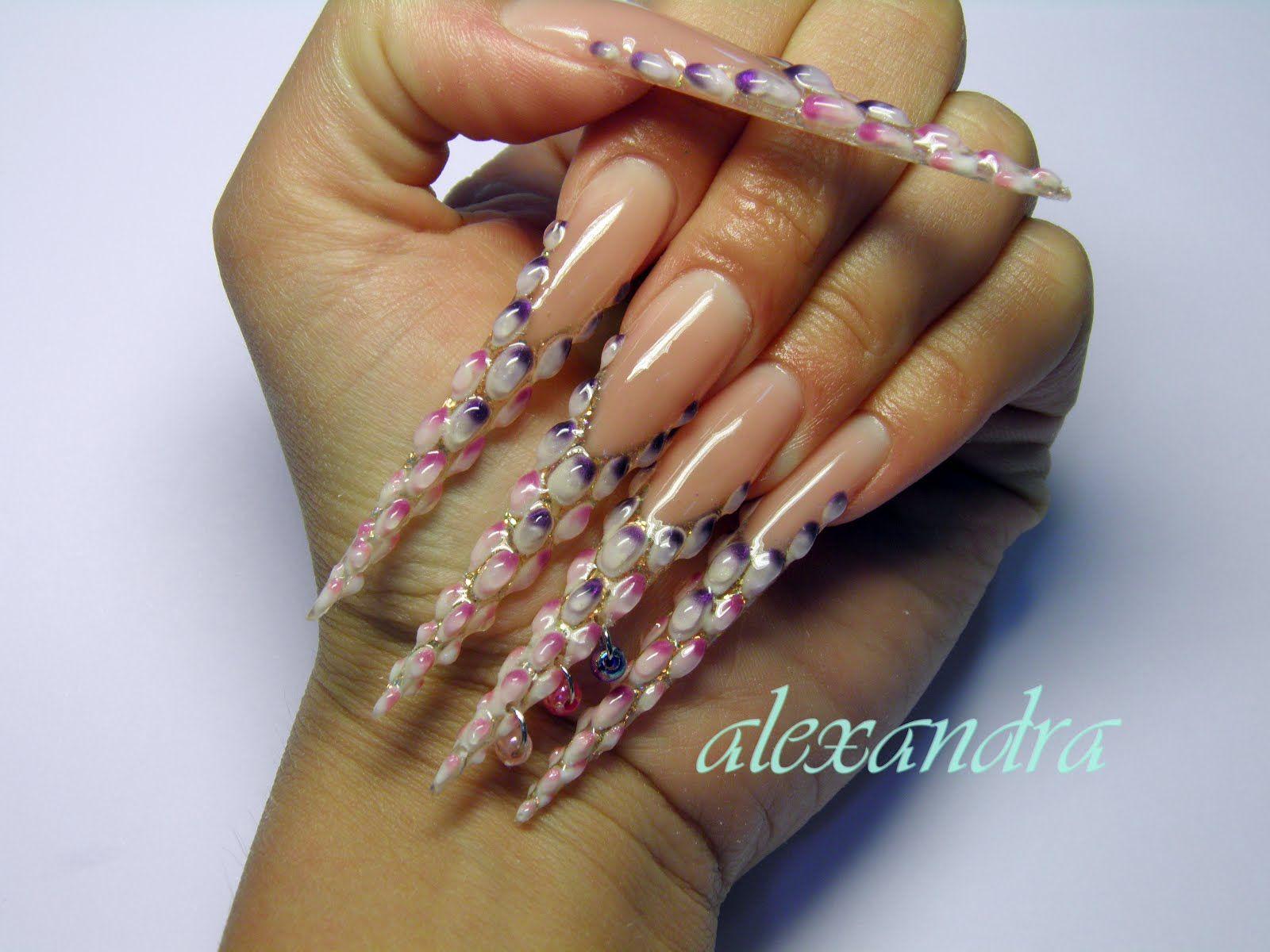 images of 3D nail art | 3d nails designs - nail art stiletto nail ...