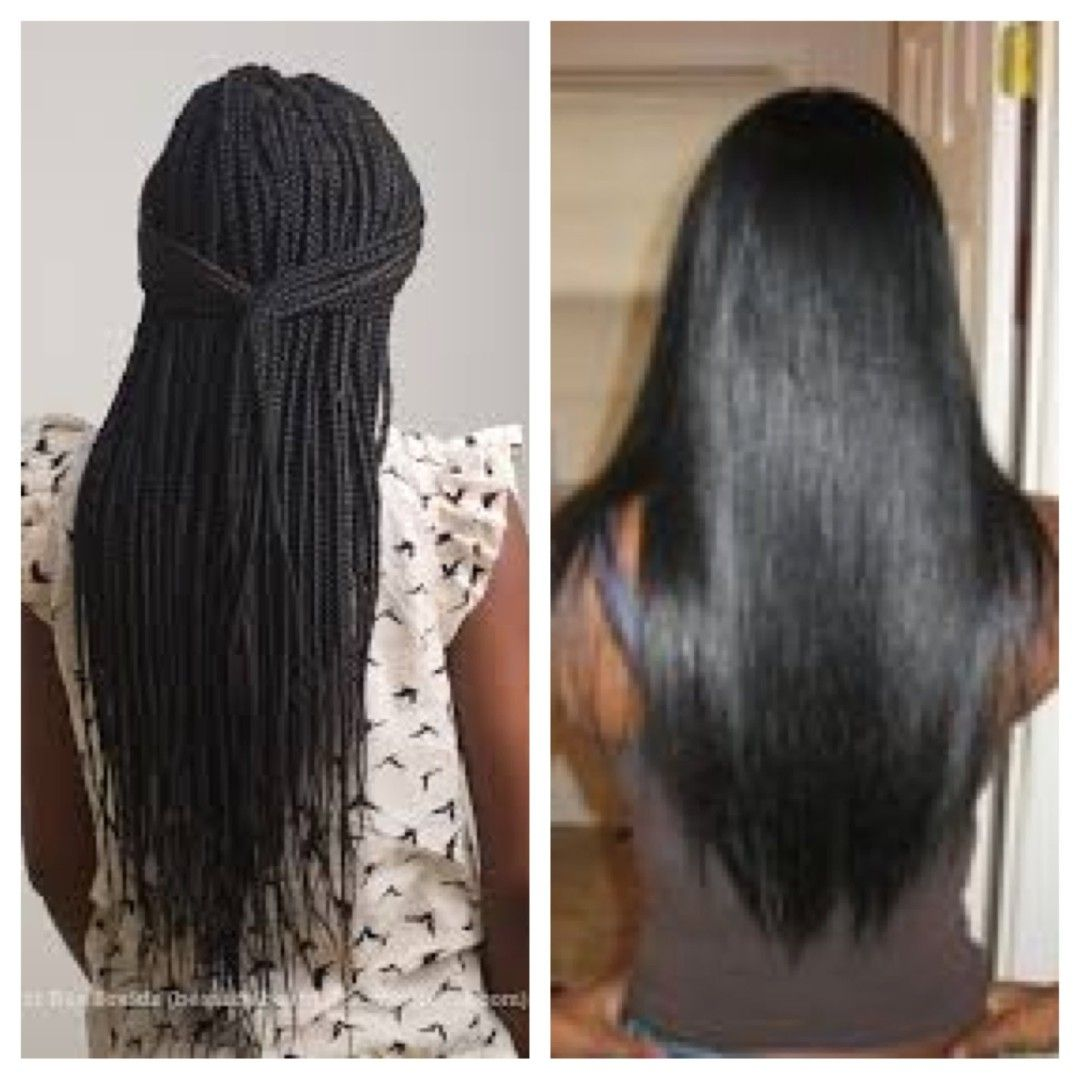 Healthy No Knots Box Braids On Short Hair No Breakage Grow