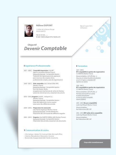 Modele Cv Original Comptable Ii Modele Cv Modele Cv Gratuit