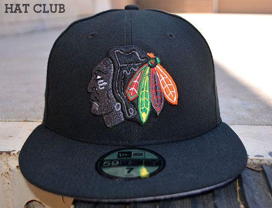 online retailer 161cd 97c5f Custom Chicago Blackhawks 59Fifty Fitted Cap by NEW ERA x NHL   HAT CLUB