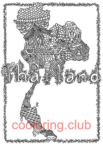 Beautiful Thailand Coloring Page By Cooloringclub On Etsy Coloring