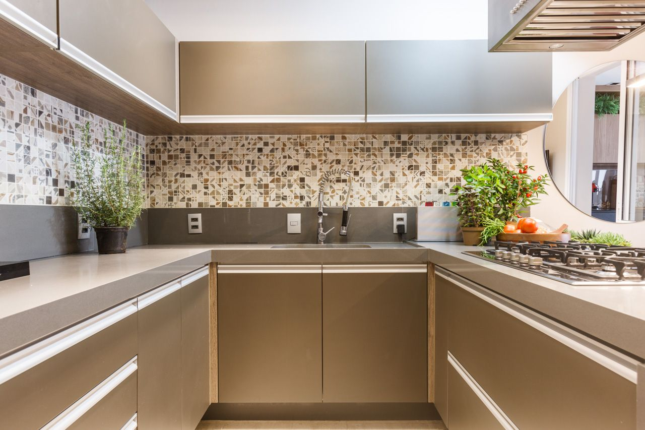 Cozinha Moderna Com Bancadas Em Silestone Noka Kitchen