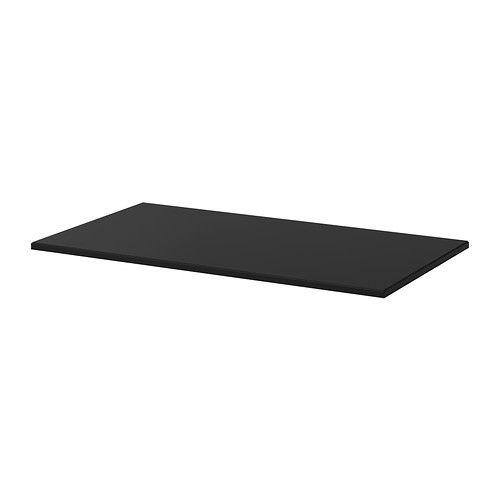 ikea klimpen tischplatte schwarz vorgebohrte l cher f r die beine leichte montage. Black Bedroom Furniture Sets. Home Design Ideas