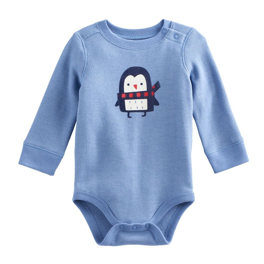 340afda69172 Baby Boy Jumping Beans® Graphic Shoulder Snap Thermal Bodysuit ...