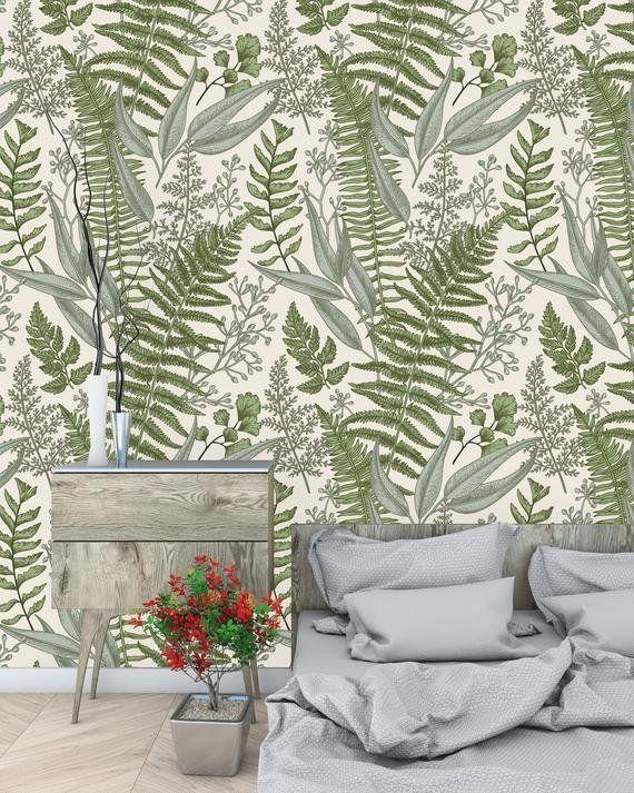 Nerys Removable Nursery Fern Botanical 6 25 L X W And Stick Wallpaper Roll
