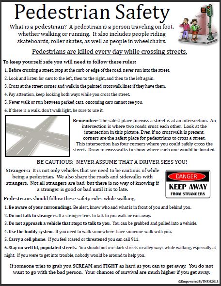 Printables Pedestrian Safety Worksheets a well the ojays and wells on pinterest one page worksheet how to remain safe as pedestrian from vehicles